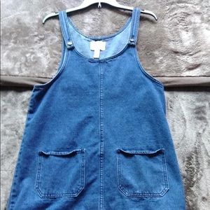 Overall Denim Dress!! Worn 1x!